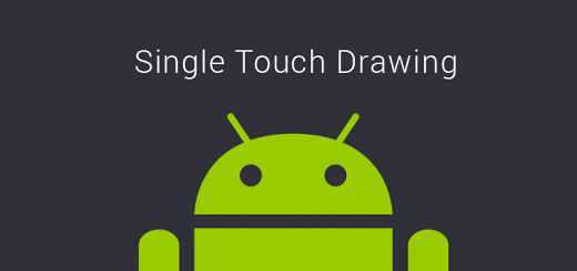 Single touch drawing app for android